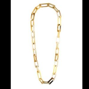 Maiyet Horn and Gold Link Medium Necklace
